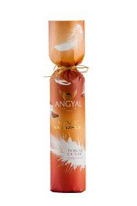 Angyal Borászat Magic boros palack díszcsomagolása